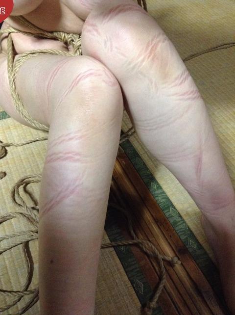 縄で縛られた後のAV女優の体をご覧ください